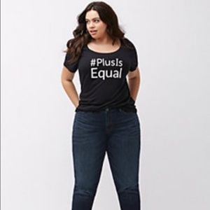 Lane Bryant's #PlusIsEqual campaign top from 2015